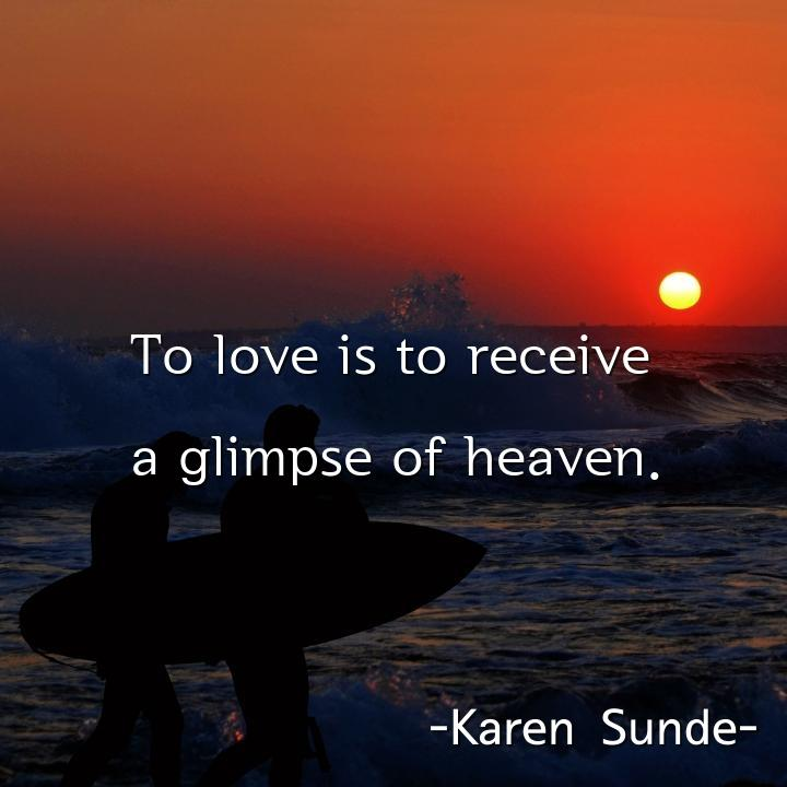 To love is to receive