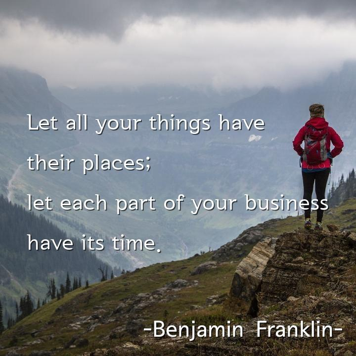 Let all your things have